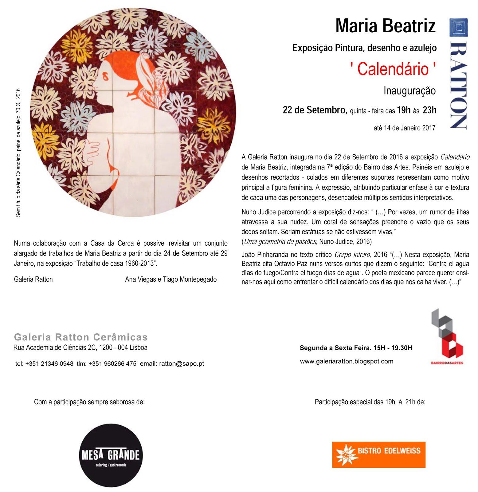 Maria Beatriz - Calendário - 2016