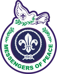 "Our Troop is now a recipient of ""Messenger of Peace"" Ring Badge"
