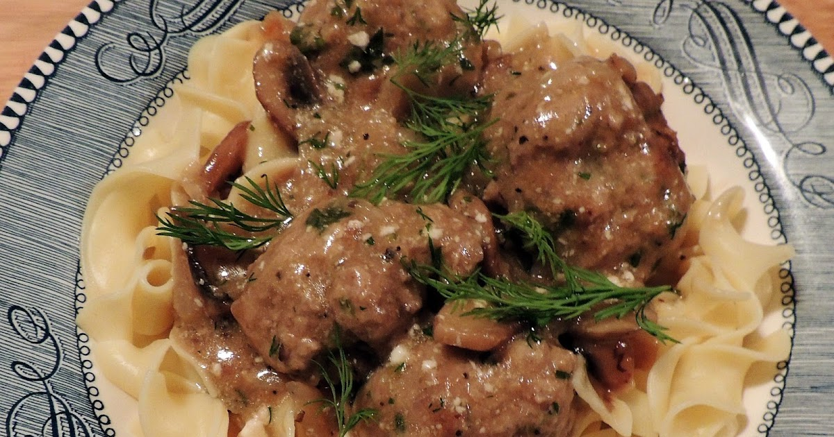 Meatballs With Creamy Greek Yogurt Mushroom Sauce Bobbi