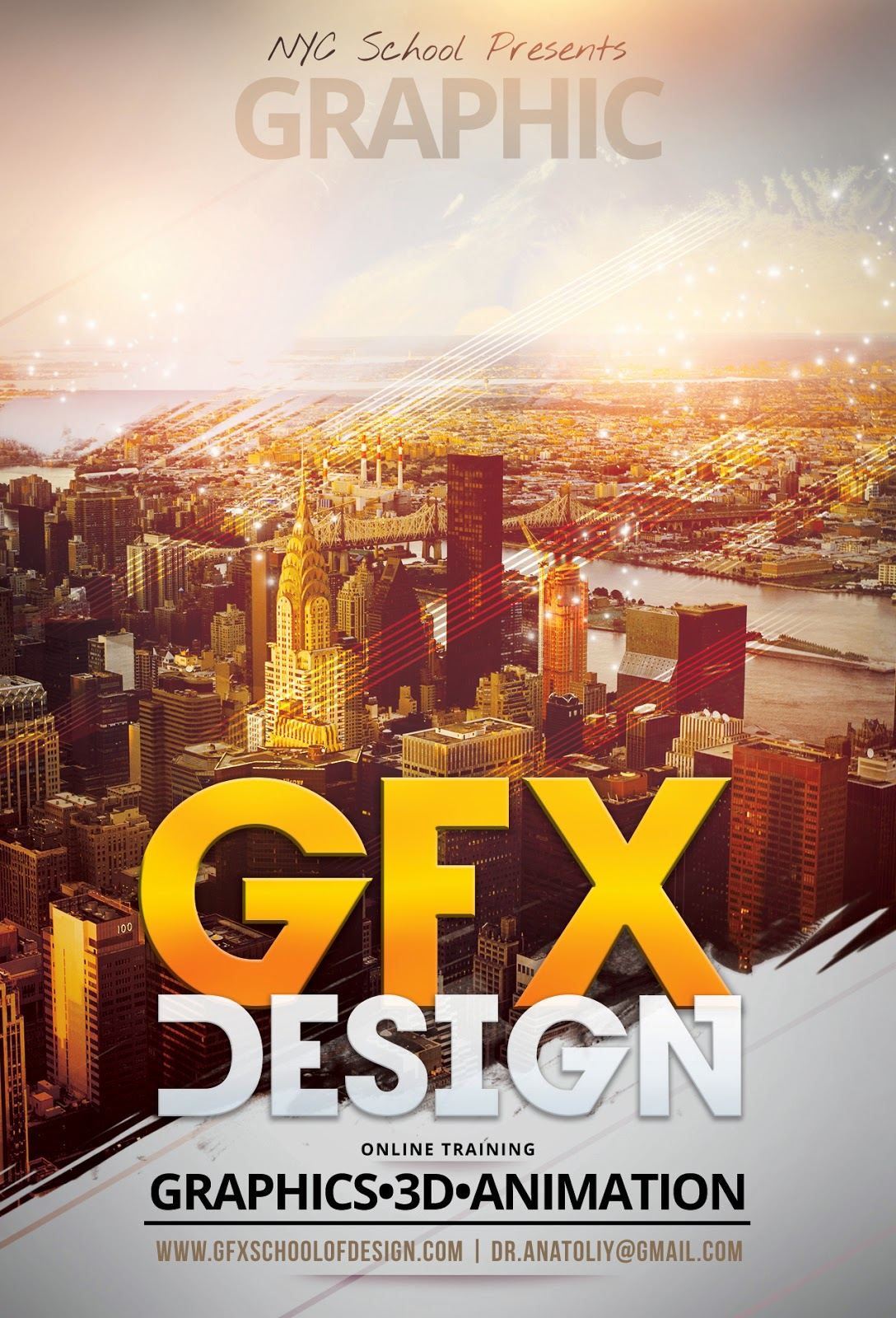3d poster design online - Gfx School And Studio Of Design Online Poster