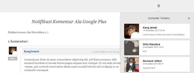 Cara Membuat Notifikasi Komentar Ala Google Plus