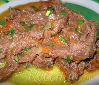 receita de carne em escalopes