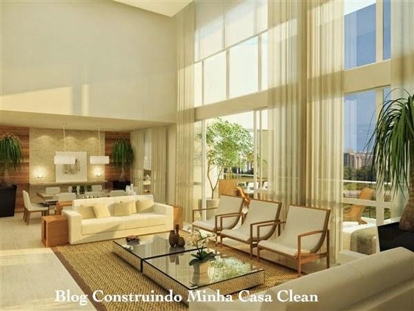 Letra De Sala De Estar ~ Construindo Minha Casa Clean 15 Salas com Sofá Branco Decoradas