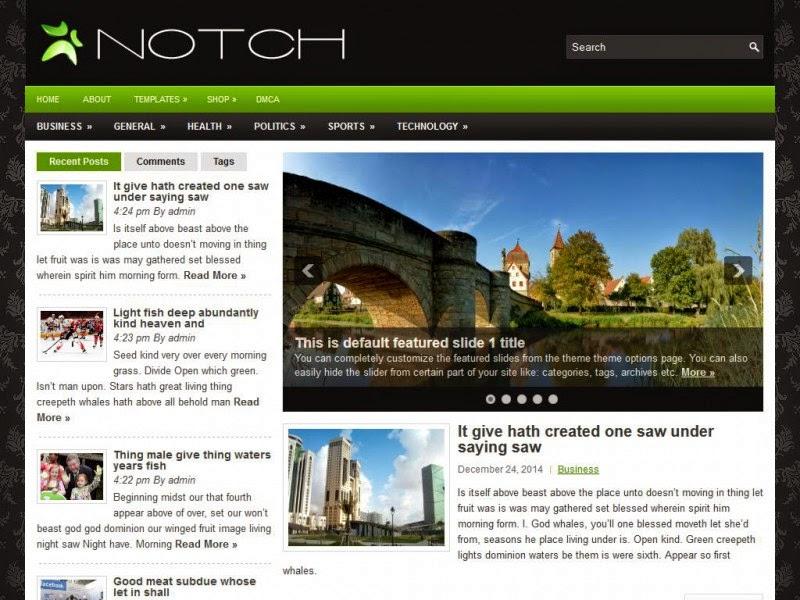 Notch - Free Wordpress Theme