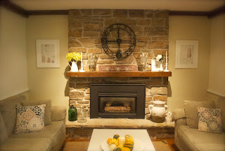 DIY Fireplace Mantle Painting