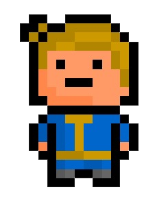 Pixelart fallout template collection