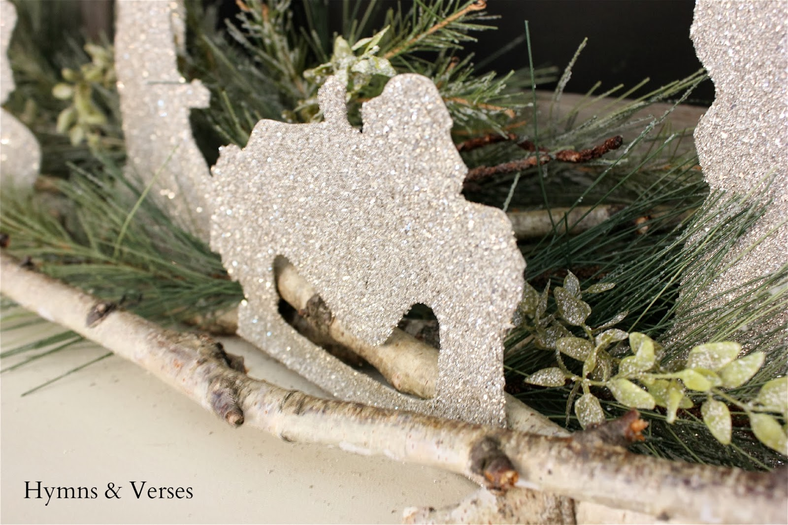 Diy german glass glitter silhouette nativity hymns and verses the quality of this glitter is beyond what you can buy at your local craft store it is actually small particles of real silver it does tarnish over time solutioingenieria Images