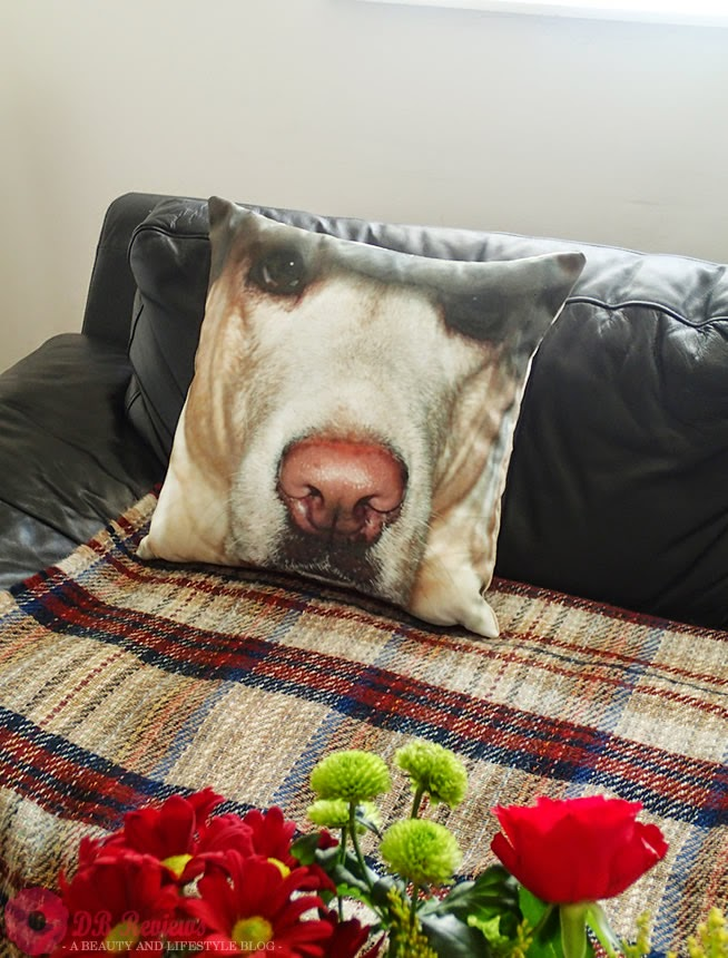 Personalised faux suede cushion from Photo Panda