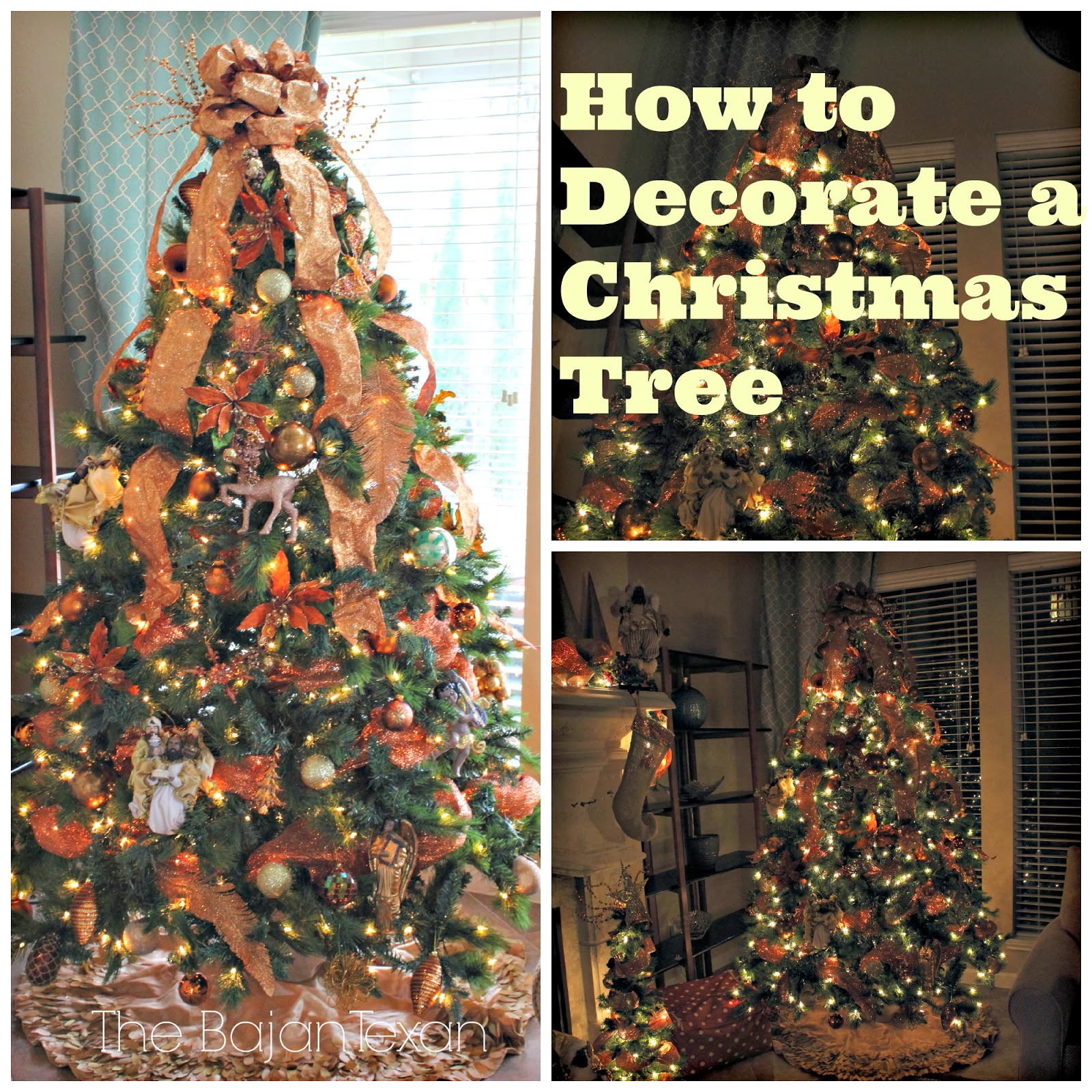 how to decorate a christmas tree check out these step by step pics - Ways To Decorate A Christmas Tree