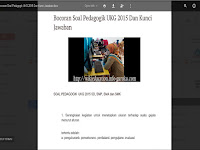Unduh File Bocoran Soal UKG SD,SMP,SMA/SMK 2015.Docs
