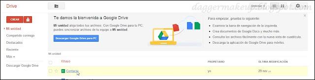 Ficheros de Google Drive
