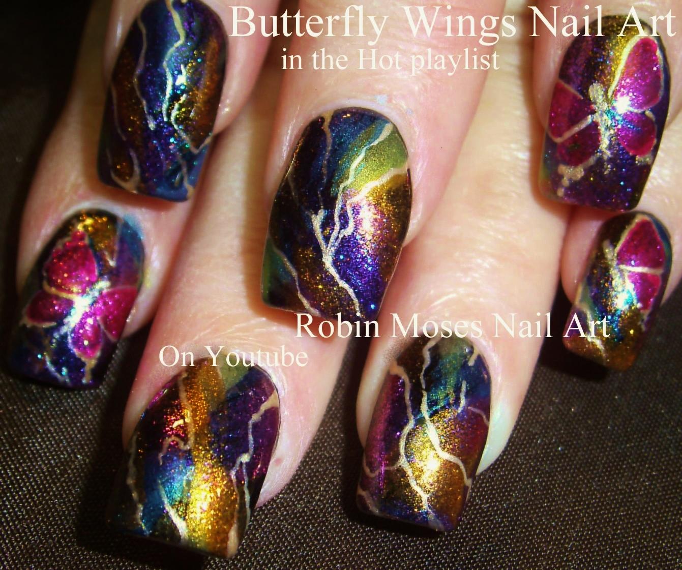 """Robin Moses Nail Art Designs: Robin Moses Nail Art: """"butterfly Nail Art"""" """"diy Summer"""