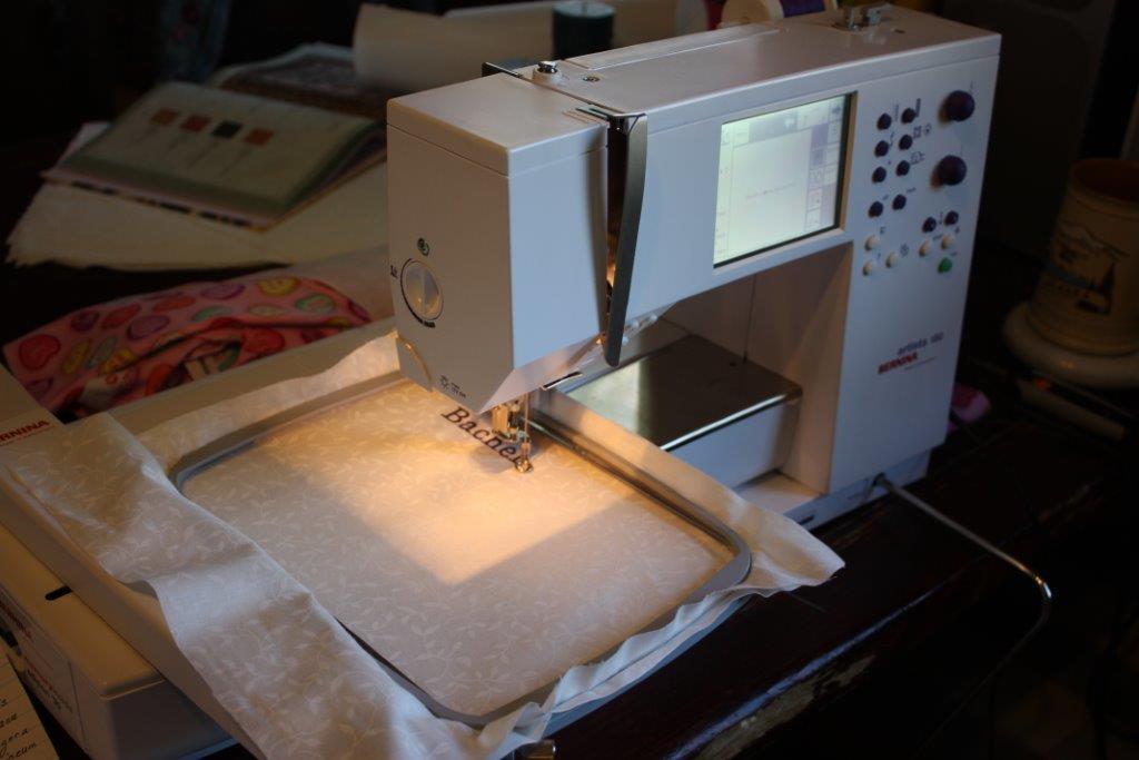 Sarah Lynn's Mitered Corner My Sewing Studio Cool Bernina 180e Sewing Embroidery Machine