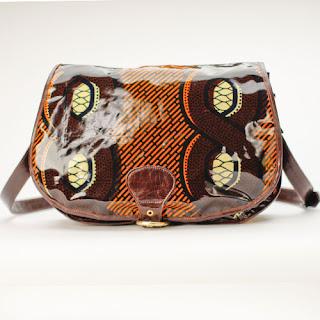 Ugo's Boutique African Print Satchel - iloveankara.blogspot.com