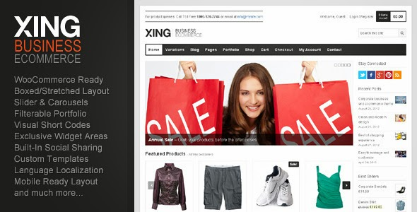 Xing - Business / Ecommerce WP Theme Responsive for Online Store