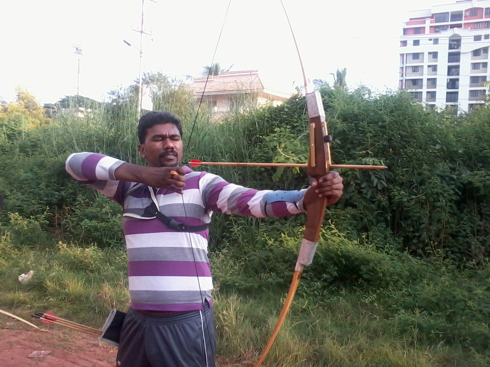 Archer Kishore from Kerala won Silver Medal at national archery championship for the handicapped