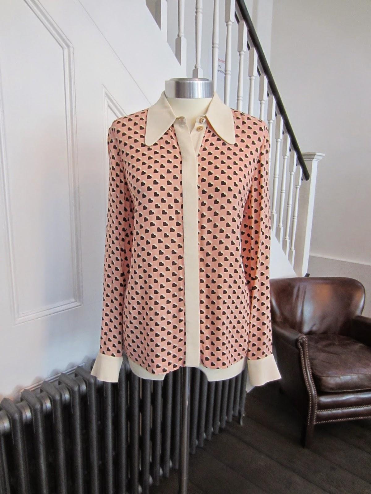 Orla Kiely Pink & Cream Heart Print Blouse