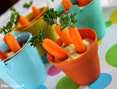 Hummus Carrot Patches