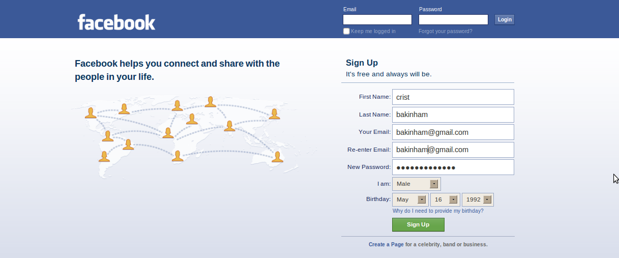 how to create account for facebook with a new email