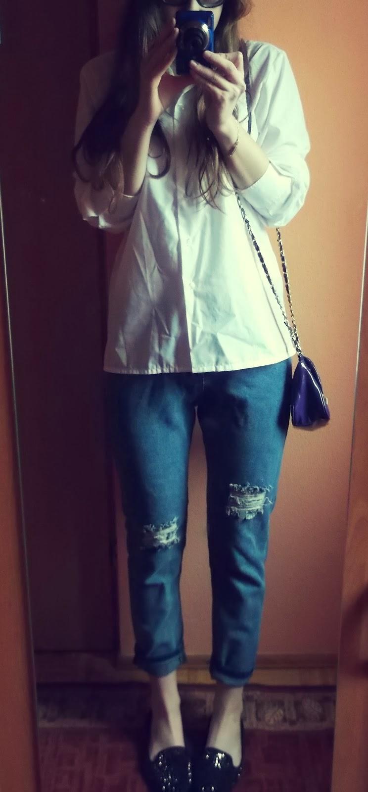 OOTD: mój sposób na białą koszulę :)