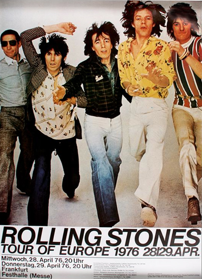 Rolling Stones 1973 Australian Tour Poster Australian Tour