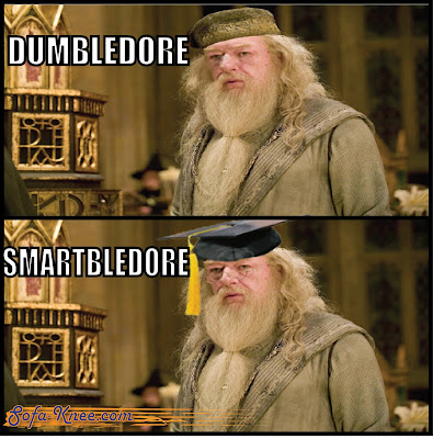 dumbledore harry potter pun meme image joke