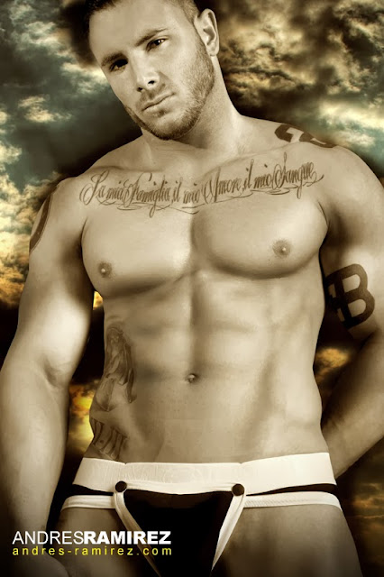Sexy model Esteban Martinez in Modus Vivendi underwear