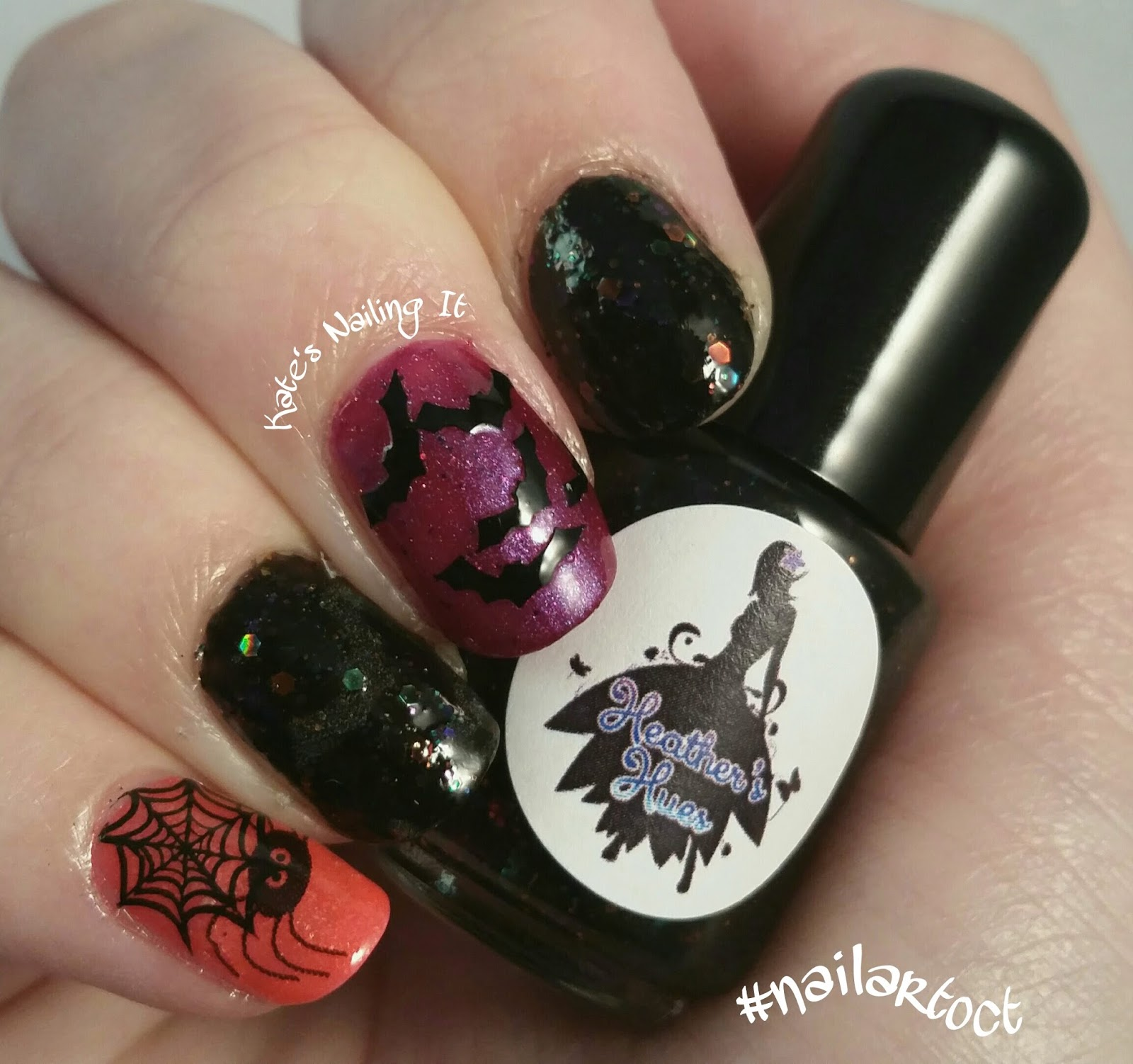 Kate\'s Nailing It: October nail art challenge Day 22: Critters