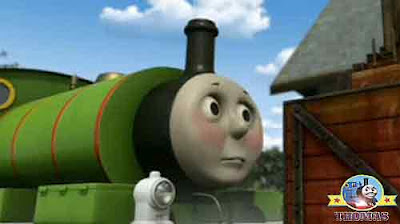 Calliope music Thomas the train friend Percy the small engine wheels wobbled Diesel the tank engine