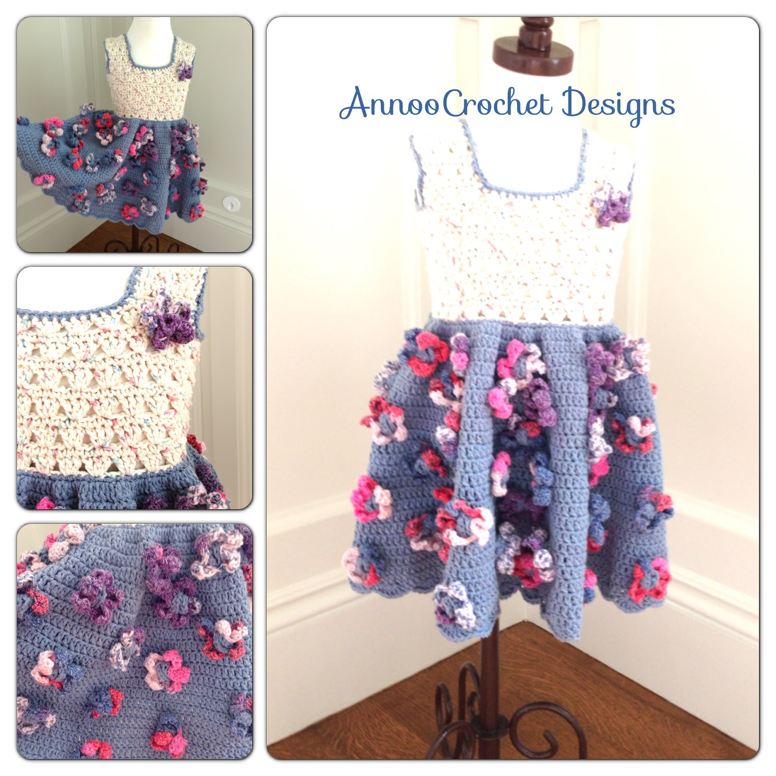 Annoos crochet world field of flower summer toddler dress free field of flower summer toddler dress free pattern bankloansurffo Image collections