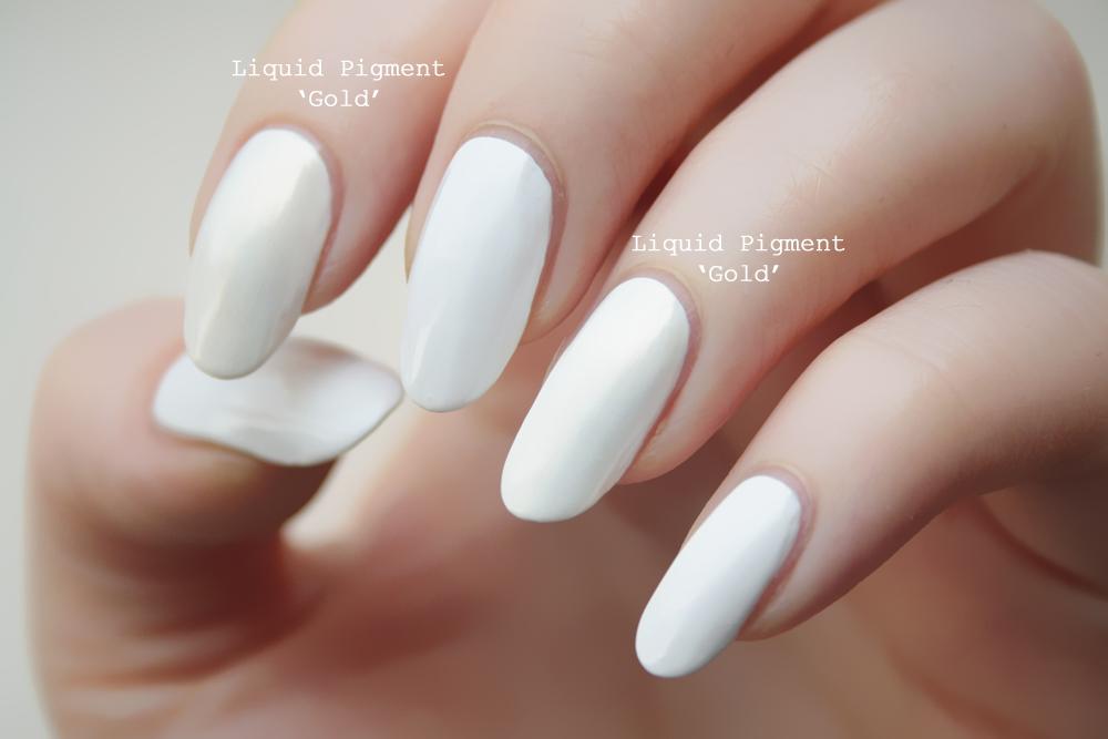 MAC Nail Transformations Review (Liquid Pigment - Gold Pearl ...