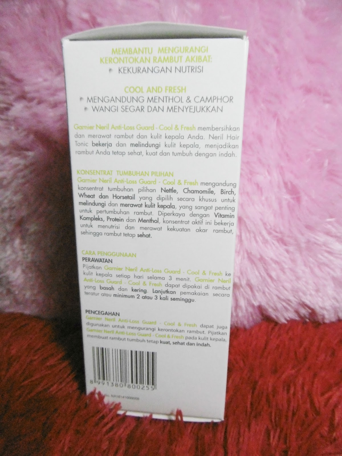 Welcome To Dscovershinta Blog Garnier Neril Hair Tonic Anti Loss Guard 200 Ml Kenapa Aku Lebih Tertarik Dengan Karena Mengandung Konsentrat Tumbuhan Pilihan Nettle Chamomile Birch Wheat Dan Horsetail Yang Dipilih Secara