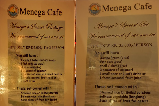 The household unit of measurement goes out to fish early on in the forenoon as well as sell them at black Beaches in Bali: Menega Cafe Jimbaran Bali