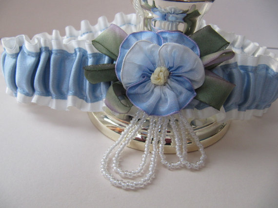 Deborah offers single garters or garter sets where one garter is for tossing