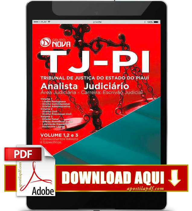 Apostila TJ PI 2015 PDF Download Escrivão Judicial
