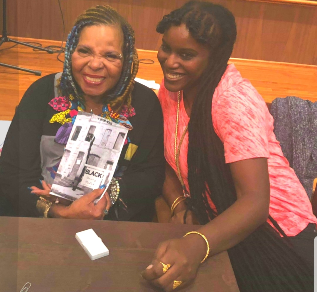 Ntozake Shange blessing my book.