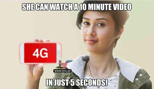 Airtel 4G Girl Jokes