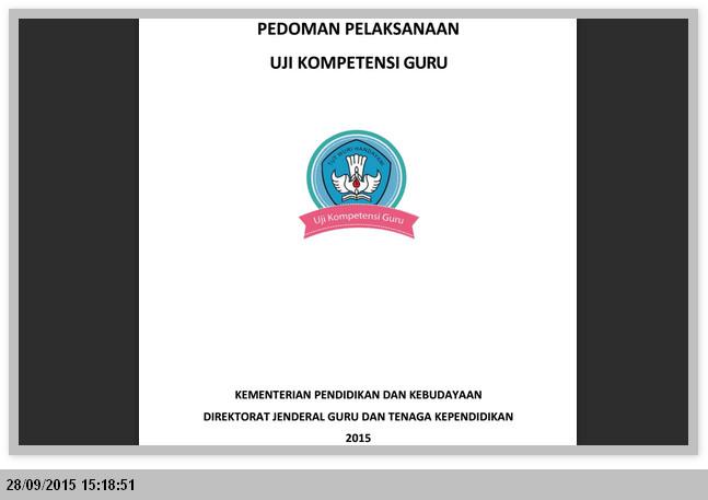 Pedoman Pelaksanaan UKG (Uji Kompetensi Guru) Tahun 2015 Format PDF