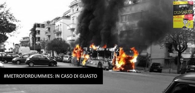 atac, autobus in fiamme