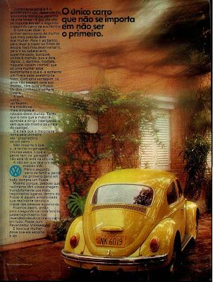 propaganda fusca - 1972. Volkswagen.  brazilian advertising cars in the 70s; os anos 70; história da década de 70; Brazil in the 70s; propaganda carros anos 70; Oswaldo Hernandez;