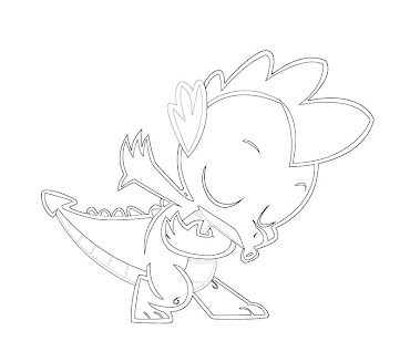 #10 Spike Coloring Page