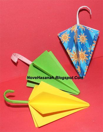 langkah-langkah cara melipat kertas origami untuk anak-anak berbentuk payung yang mudah sekali 21