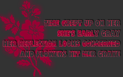 Flower - Soundgarden Song Lyric Quote in Text Image