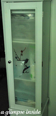 http://www.aglimpseinsideblog.com/2011/09/frosted-glass-cabinet-makeover.html