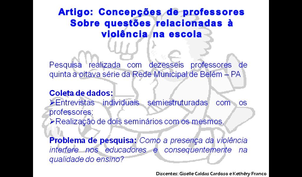 Artigo sobre violencia