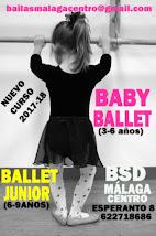 BABY BALLET Y BALLET JUNIOR CURSO 2017-18 EN BSD MÁLAGA CENTRO.