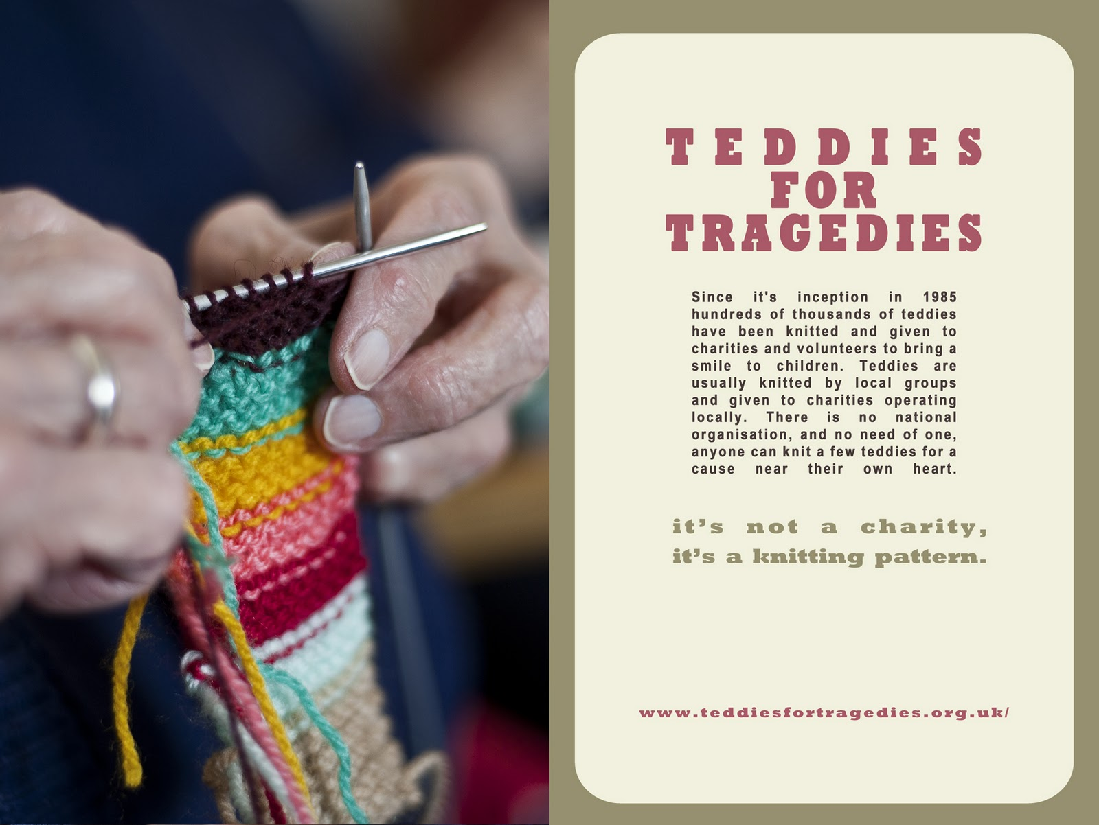 Free Designer Knitting Patterns : H Campbell Photography Blog: Teddies for Tragedies