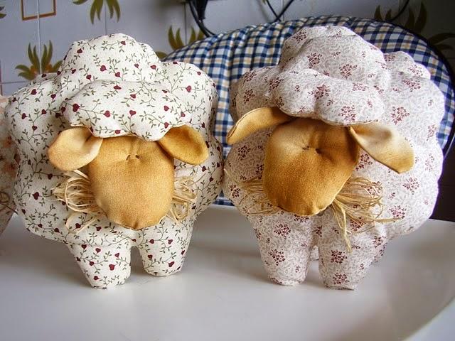 Moldes para fazer ovelhas de tecido