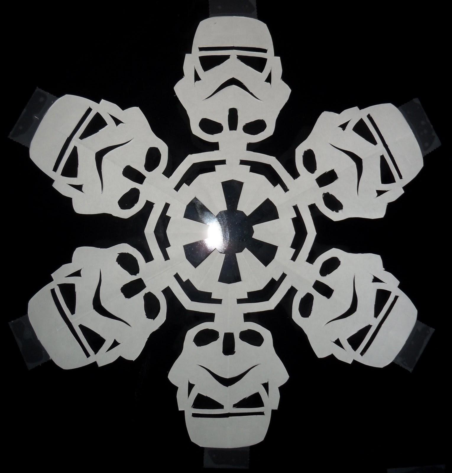 Yoda Snowflake Template Snowflakes that i made: