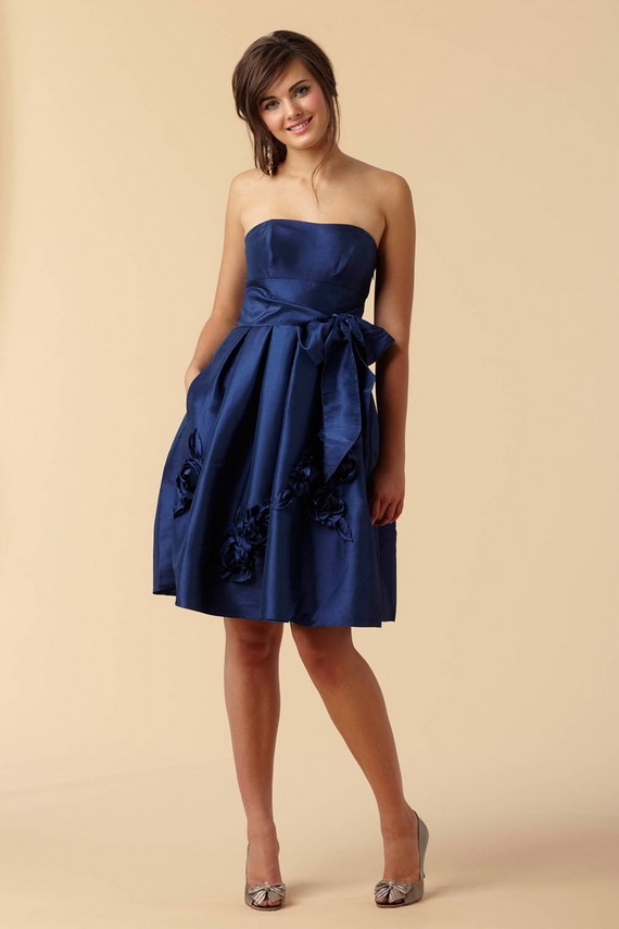 Blue Bridesmaid Dresses They also can be pleated bustier sleeveless